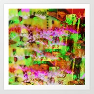 Insanity - Digital Colla… Art Print