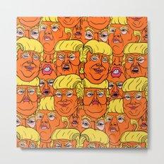 Trump Nightmare Pattern Metal Print