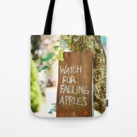 Falling Apples Tote Bag