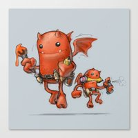 Creative Red Devil Canvas Print