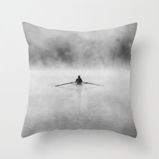 Rowing On The Chattahooc… Throw Pillow