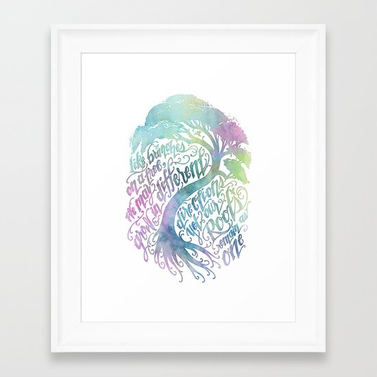 Our Roots Remain As One Framed Art Print