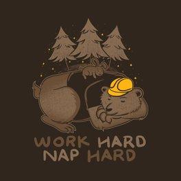 Art Print - Work Hard Nap Hard - Tobe Fonseca