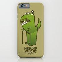 Mustachio Saurus Rex iPhone 6 Slim Case