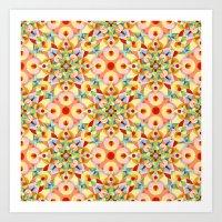 Tangerine Confetti Art Print