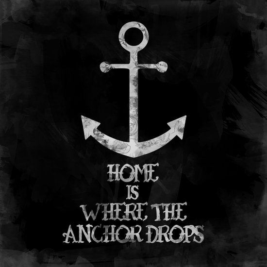 Where The Anchor Drops (Black) Art Print