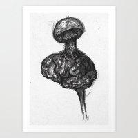 Mushroom marrow Art Print