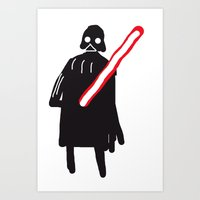 You Are Drawing Vader Art Print