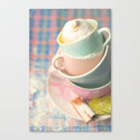 Teacup Tower Canvas Print