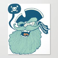 Pirate Material Canvas Print