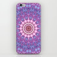 pink and blue kaleidoscope iPhone & iPod Skin