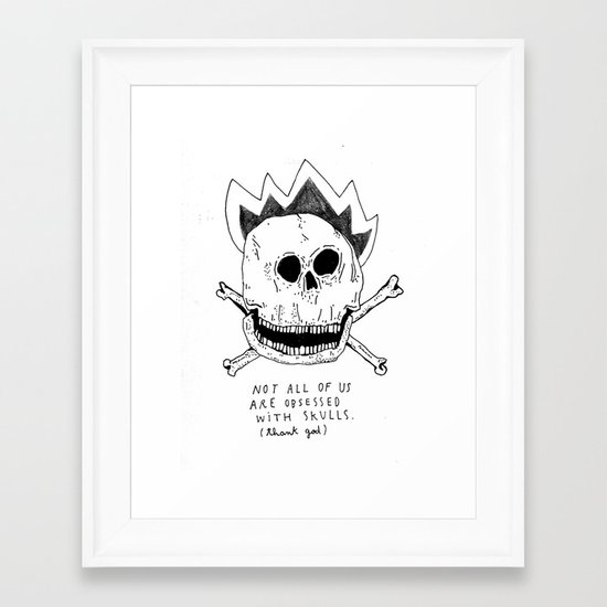 GETTING RID OF PUNK-ROCK MYTHS #1 Framed Art Print