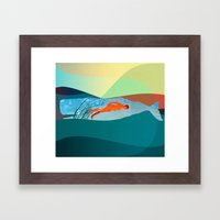 In The Water Under The S… Framed Art Print
