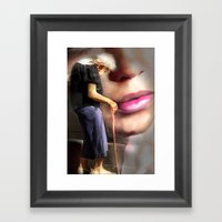 When I Wore A Young Girl… Framed Art Print