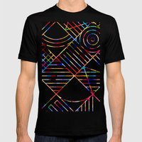 Rainbow Whackadoodle Mens Fitted Tee Black SMALL