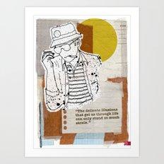 The Rum Diary…Hunter S Thompson Art Print