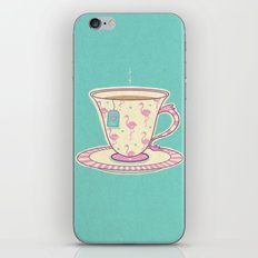 Flamingo tea iPhone & iPod Skin