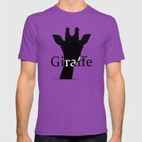 Giraffe Mens Fitted Tee Ultraviolet SMALL