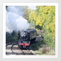 Steam Locomotive 48624 Art Print