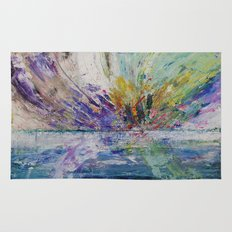 Live life to the fullest - abstract painting Rug