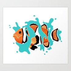 Life in the ocean Art Print