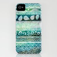 iPhone 4s & iPhone 4 Cases featuring Dreamy Tribal Part VIII by Pom Graphic Design