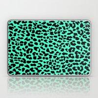 Neon Mint Leopard Laptop & iPad Skin