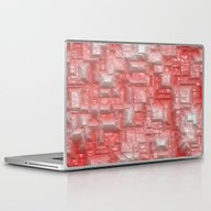 Peppy Crystals Red Laptop & iPad Skin