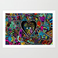 What The Heart Sees The … Art Print