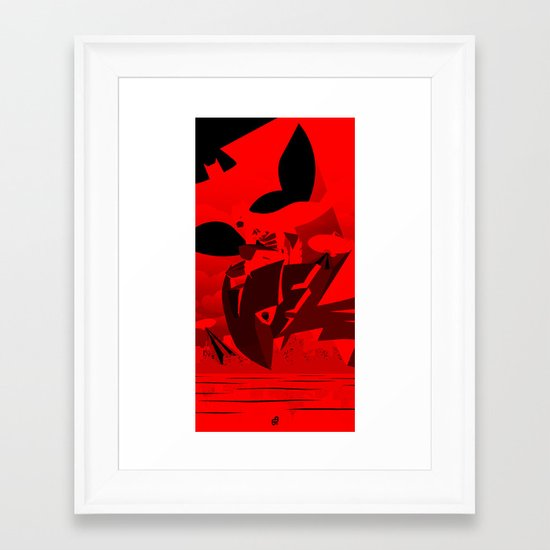 Knight Over Gotham Framed Art Print