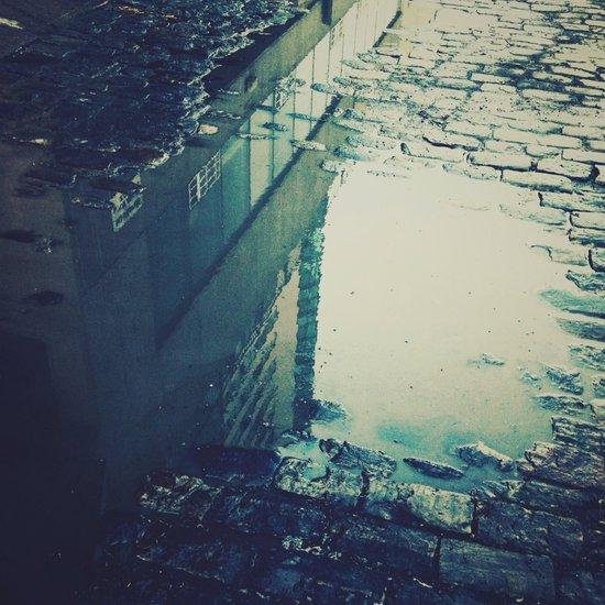 Urban Reflection Art Print