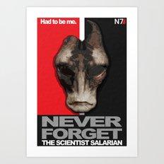 NEVER FORGET - Mordin Solus- Mass Effect Art Print