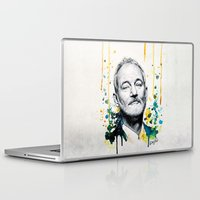 bill murray Laptop & iPad Skins featuring Bill Murray by Denise Esposito