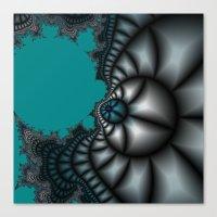 Blue shale fractal Canvas Print