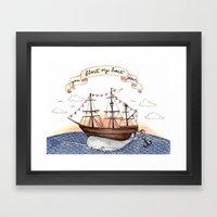 Float My Boat Framed Art Print