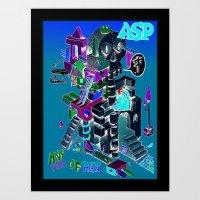 Any form of mechanical man. Art Print
