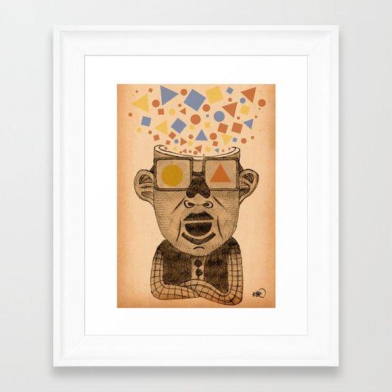 sometimes i just feel geometric Framed Art Print