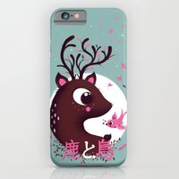 iPhone & iPod Case featuring la biche et l'oiseau by MKT4