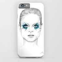iPhone & iPod Case featuring Blue Eyed Girl by Kim Jenkins