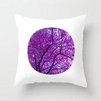 Purple Tree XXXI Throw Pillow