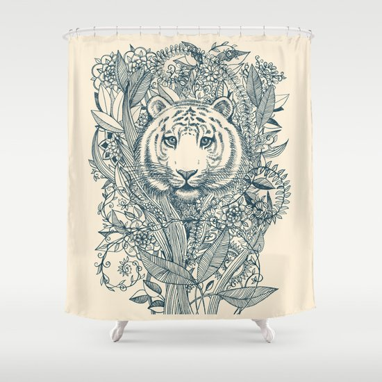 Tiger Tangle Shower Curtain
