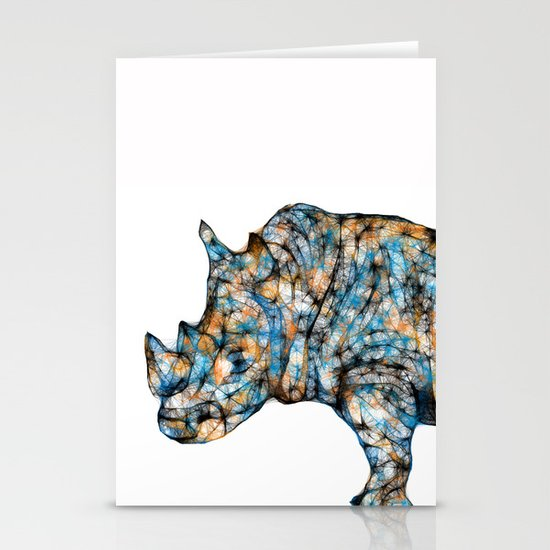 Rhino-no text Stationery Card