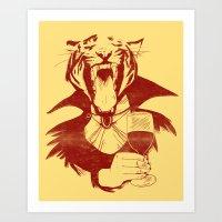 Vampire Tiger Art Print