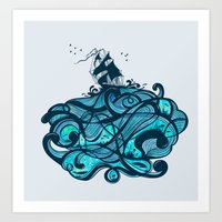 Upon The Sea Art Print