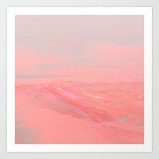 CHEMIN ROSE Art Print