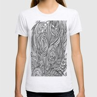 Garden of fine lines Womens Fitted Tee Ash Grey SMALL