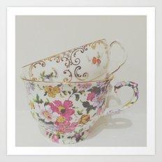 Simple Things, teacups Art Print