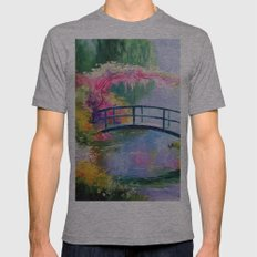Pond In The Garden Of Mo… Mens Fitted Tee Athletic Grey SMALL