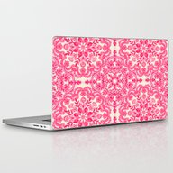 Hot Pink & Soft Cream Fo… Laptop & iPad Skin