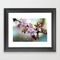 Cherry Blossom Dawn Framed Art Print